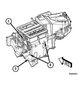 2005 Chrysler Town and Country PROBLEM: Heater Only Blows