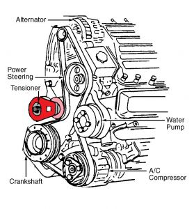 1994 Chevy Corsica BELT REPLACEMENT: Engine Mechanical