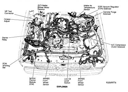 1993 Ford Explorer Distributor Module: 1993 Ford Explorer