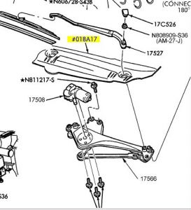 Windshield wiper size for 2002 ford taurus