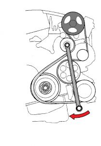 Serpentine Belt: Four Cylinder Two Wheel Drive Manual