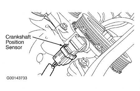 2010 Toyota Camry Crankshaft Sensor Location