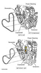 2000 Dodge Neon Automatic Belt Tensioner Between Power Stee