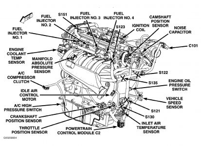 2004 Dodge Neon 2004 Neon Camshaft Position Sensor
