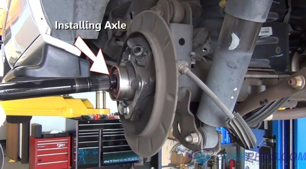 2001 Nissan Frontier Parts Diagram How To Replace A Rear Axle Bearing And Seal In Under 90