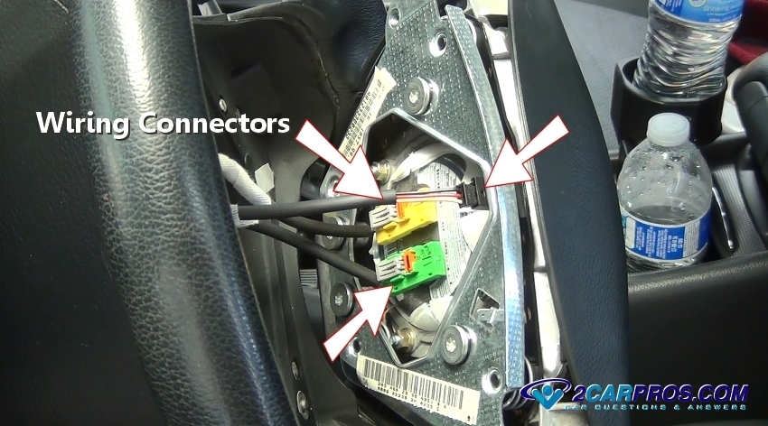 clio 2 airbag wiring diagram saab 9 3 how to remove an in under 30 minutes step disconnect connectors