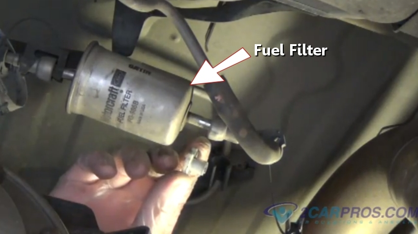 1995 mustang fuel filter location