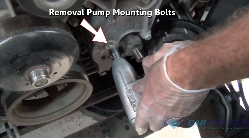 Pump Remove The Mounting Bolts Then Remove The Power Steering Pump
