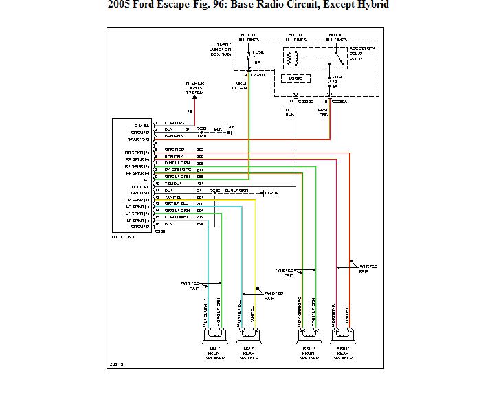 2005 ford escape radio wiring diagram 2005 ford ranger
