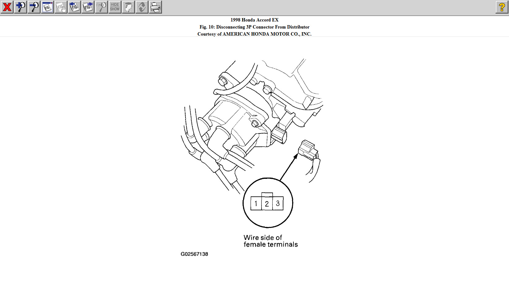 Honda Accord Crankshaft Position Sensor Location Sketch