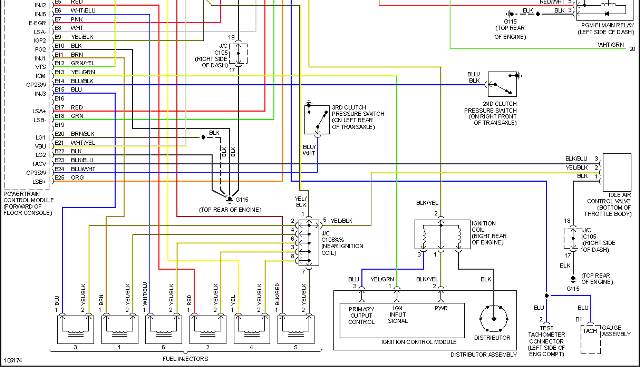 honda crv ecu wiring diagram 1995 dodge ram 1500 transmission will not start accord 1998 120 000 miles