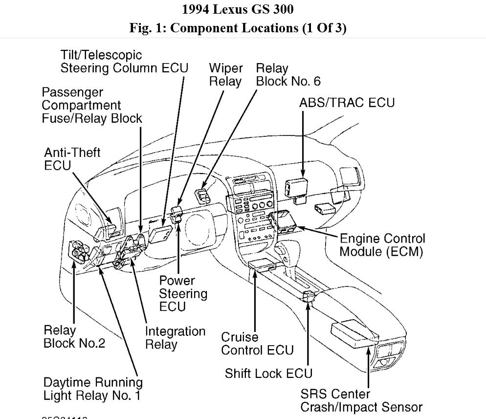 Service manual [Removal Of Pcm From A 1999 Lexus Gs