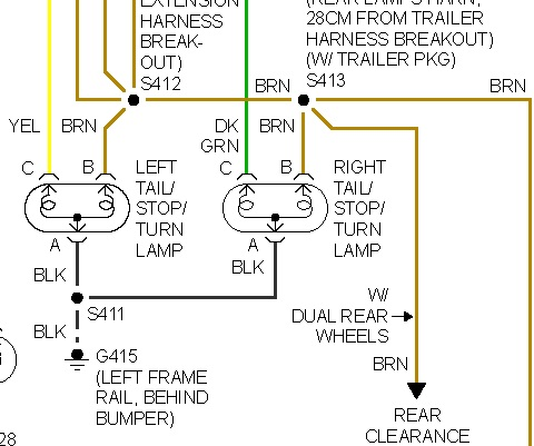 wiring diagram for 1997 chevy silverado zeta addressable fire alarm tail light harness data brake lights not working my do work the 2002 trailer