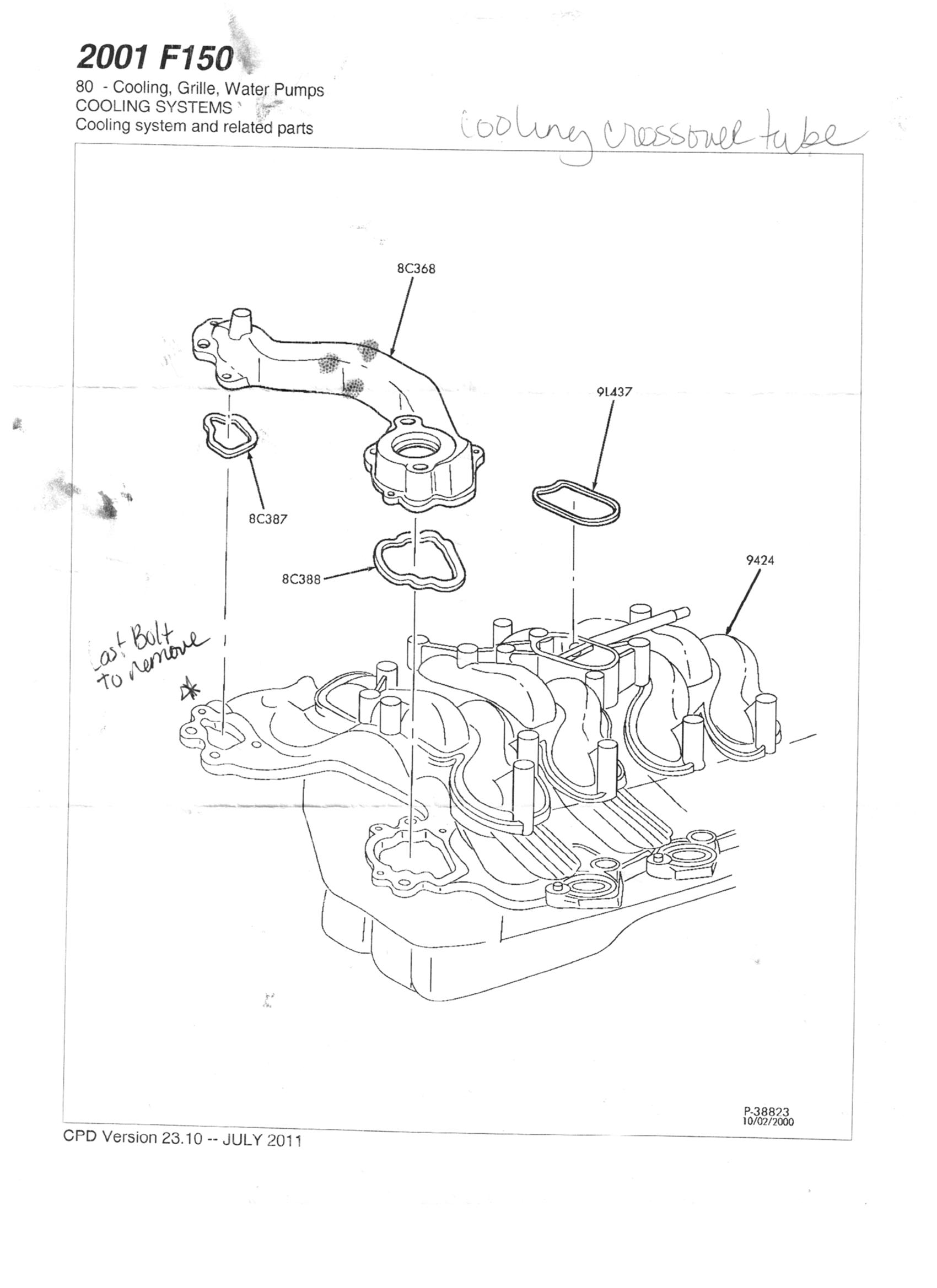 Ford Explorer Thermostat Housing Diagram