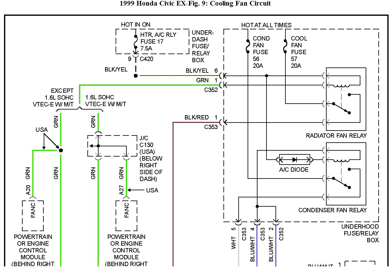 1999 honda civic ac wiring diagram horse neck www toyskids co doesn t work while stopped the on my ignition radio