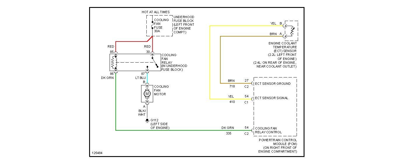 2001 chevy cavalier engine coolant diagram