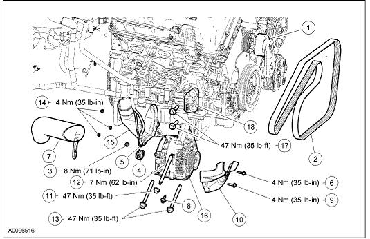 Repair: 2005 Mercury Mariner 3L 4wd Replacing Alternator