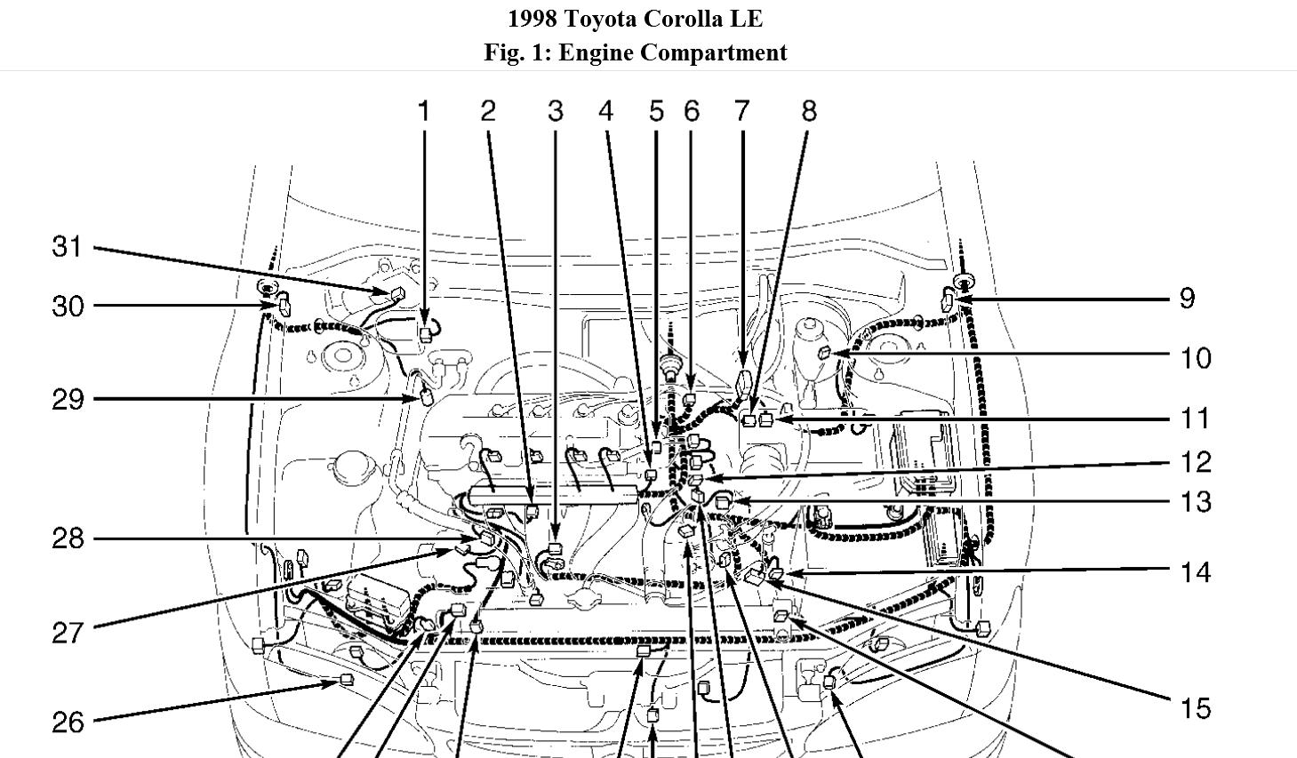 Toyota Corolla Engine Diagram : 29 Wiring Diagram Images