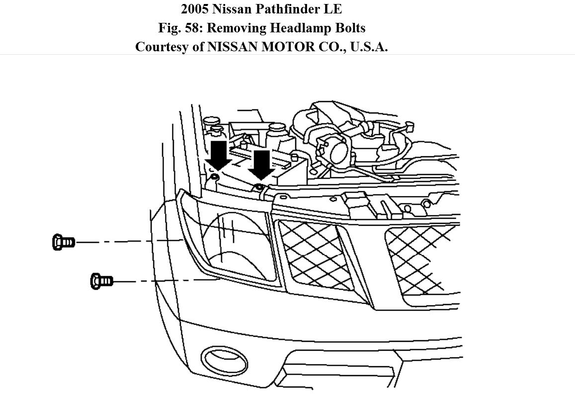 Service manual [Remove Assembly Headlight 2005 Nissan