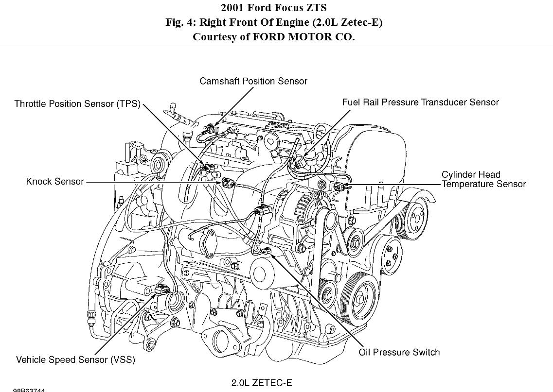 Escape Engine Diagram Alternator