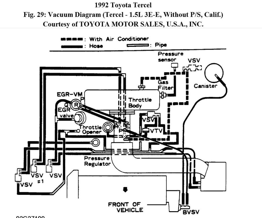 medium resolution of 1992 toyota tercel engine diagram wiring diagram centre 92 tercel engine diagram