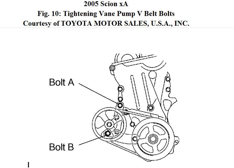 Service manual [2005 Scion Tc Power Steering Belt Install
