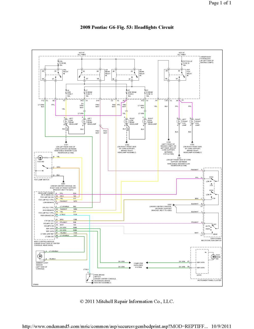 medium resolution of g6 headlight wiring harness data diagram schematic 2008 pontiac g6 headlight wiring diagram 2008 pontiac g6
