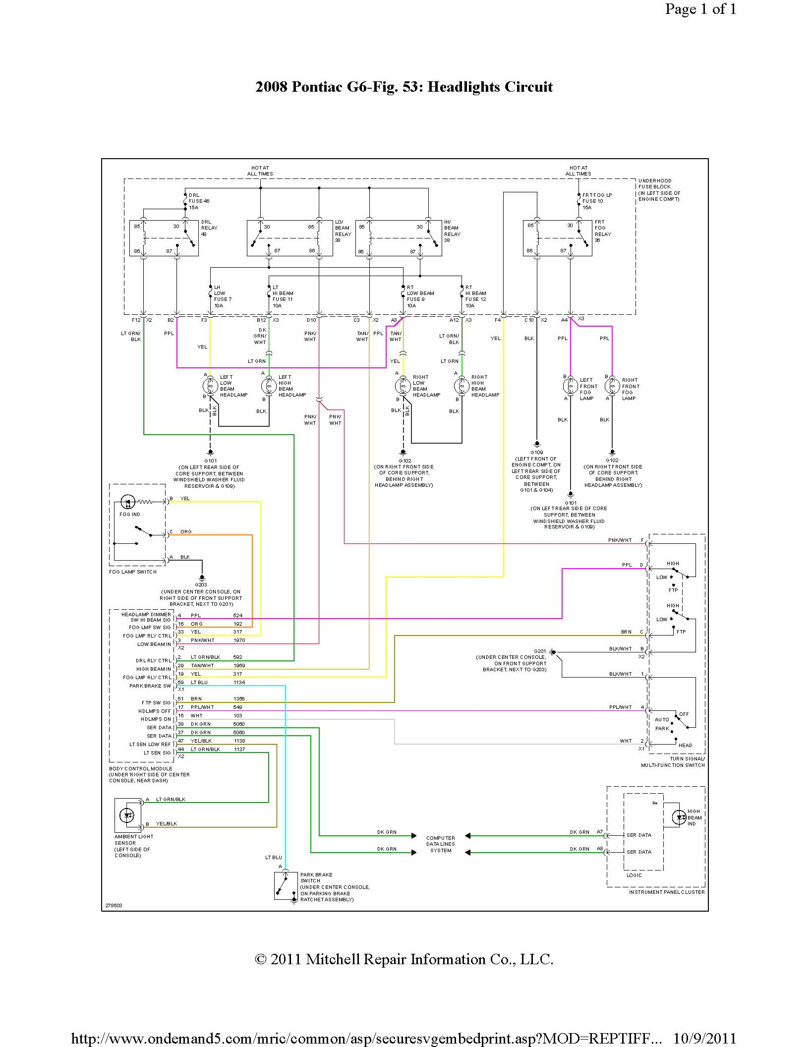hight resolution of g6 headlight wiring harness data diagram schematic 2008 pontiac g6 headlight wiring diagram 2008 pontiac g6