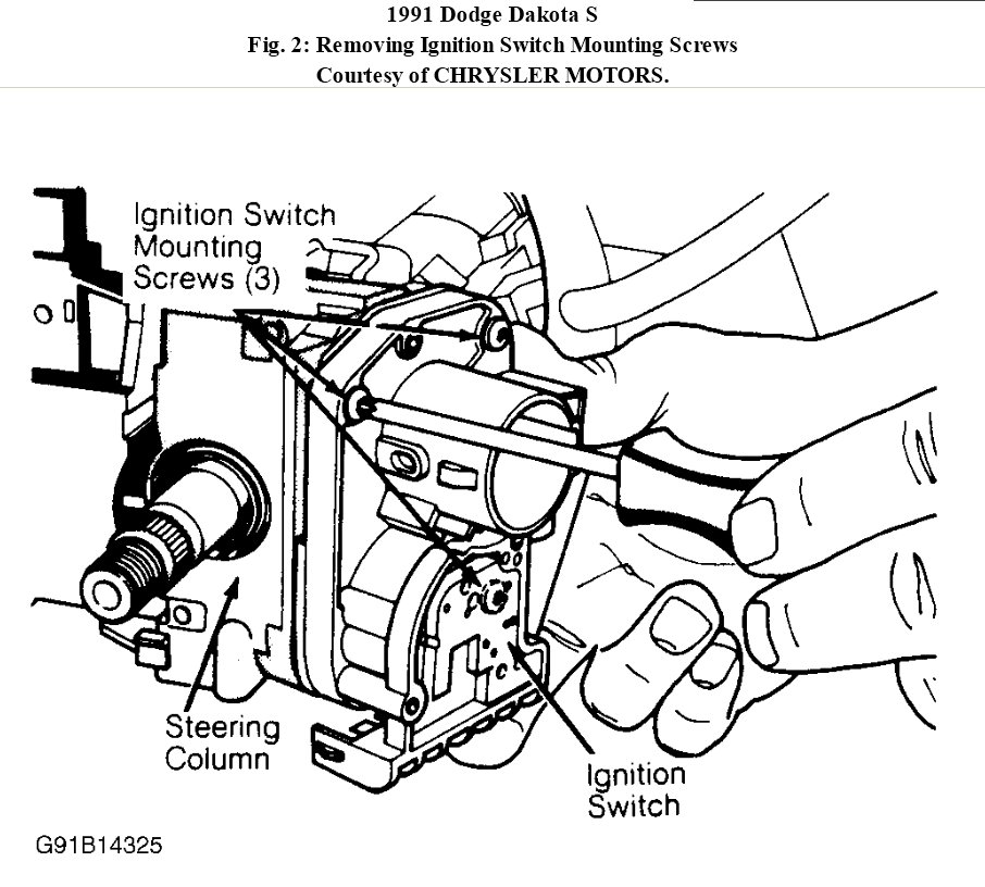 Service manual [2011 Dodge Dakota Ignition Switch How To