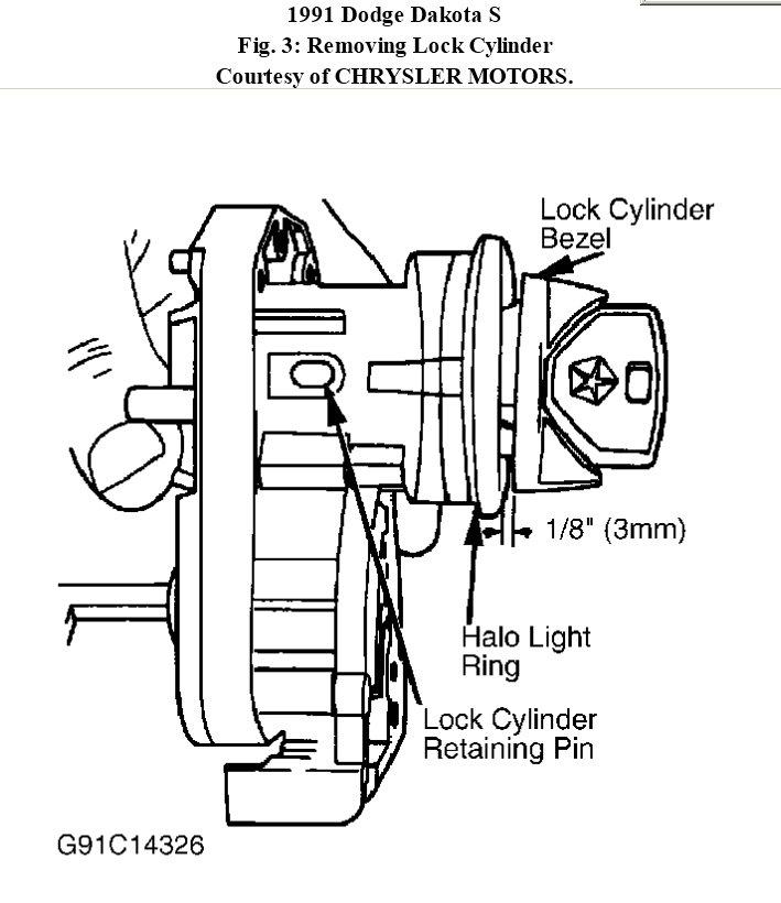 Service manual [2011 Dodge Dakota Ignition Switch How To