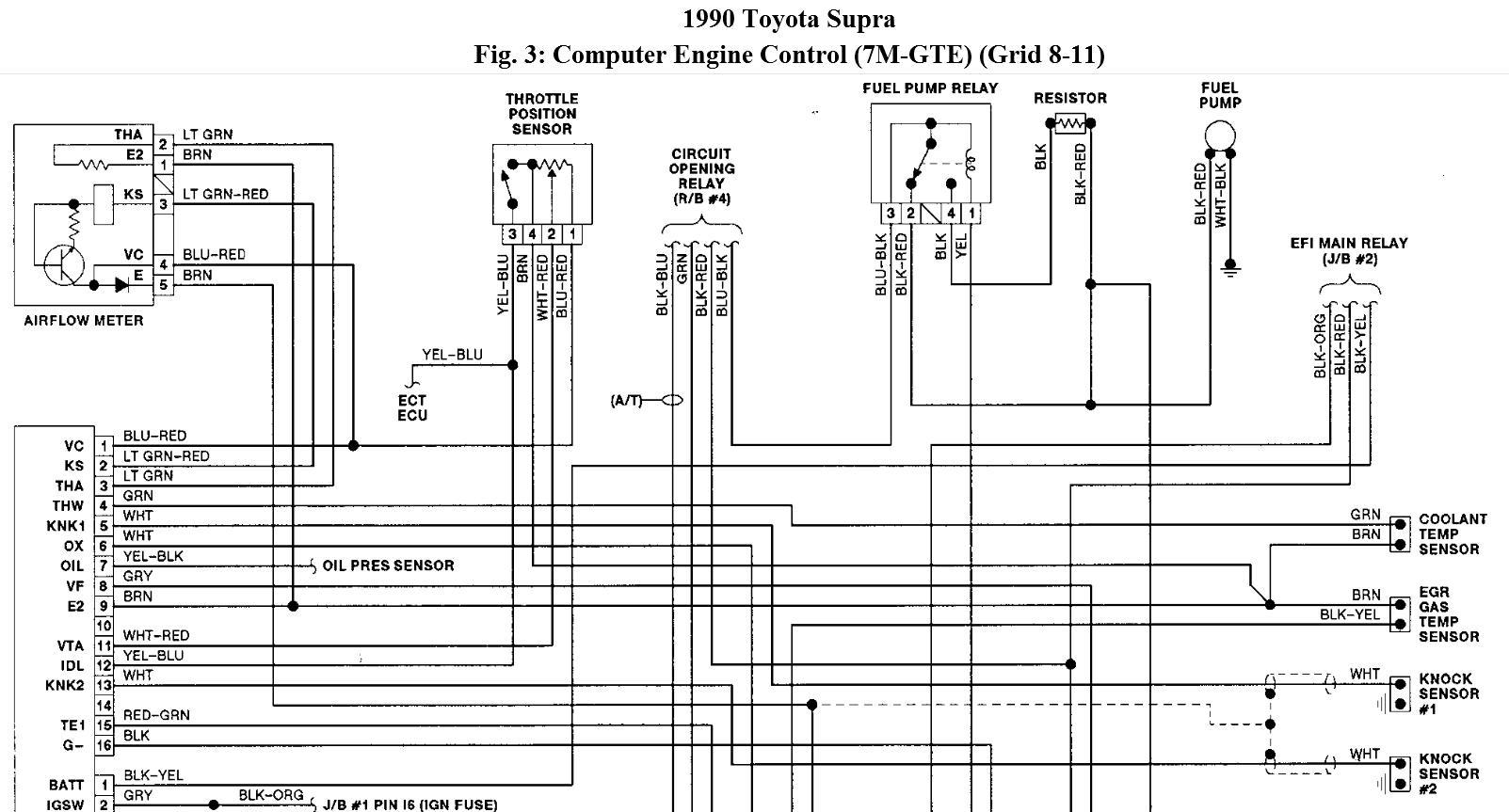 Wiring Need Wiring Schematic For A 7m Gte Engine In A