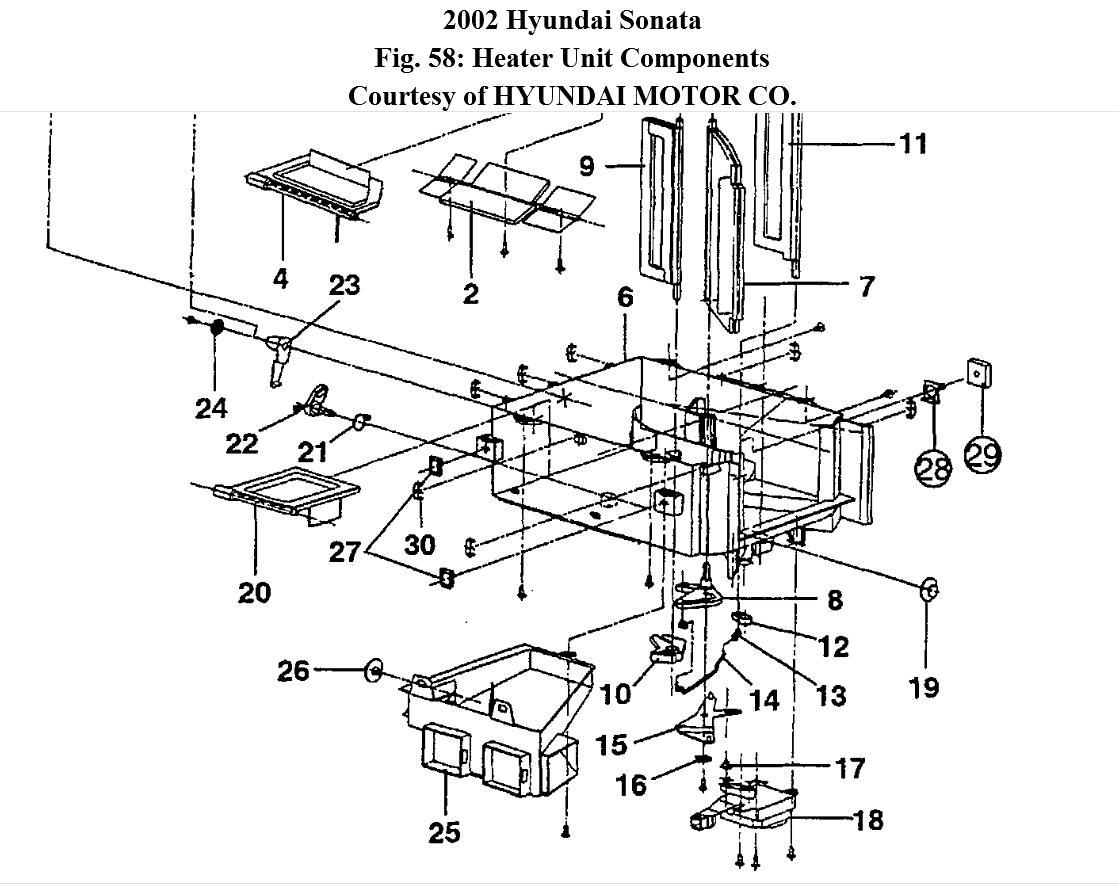 Service manual [2010 Hyundai Sonata Heater Core