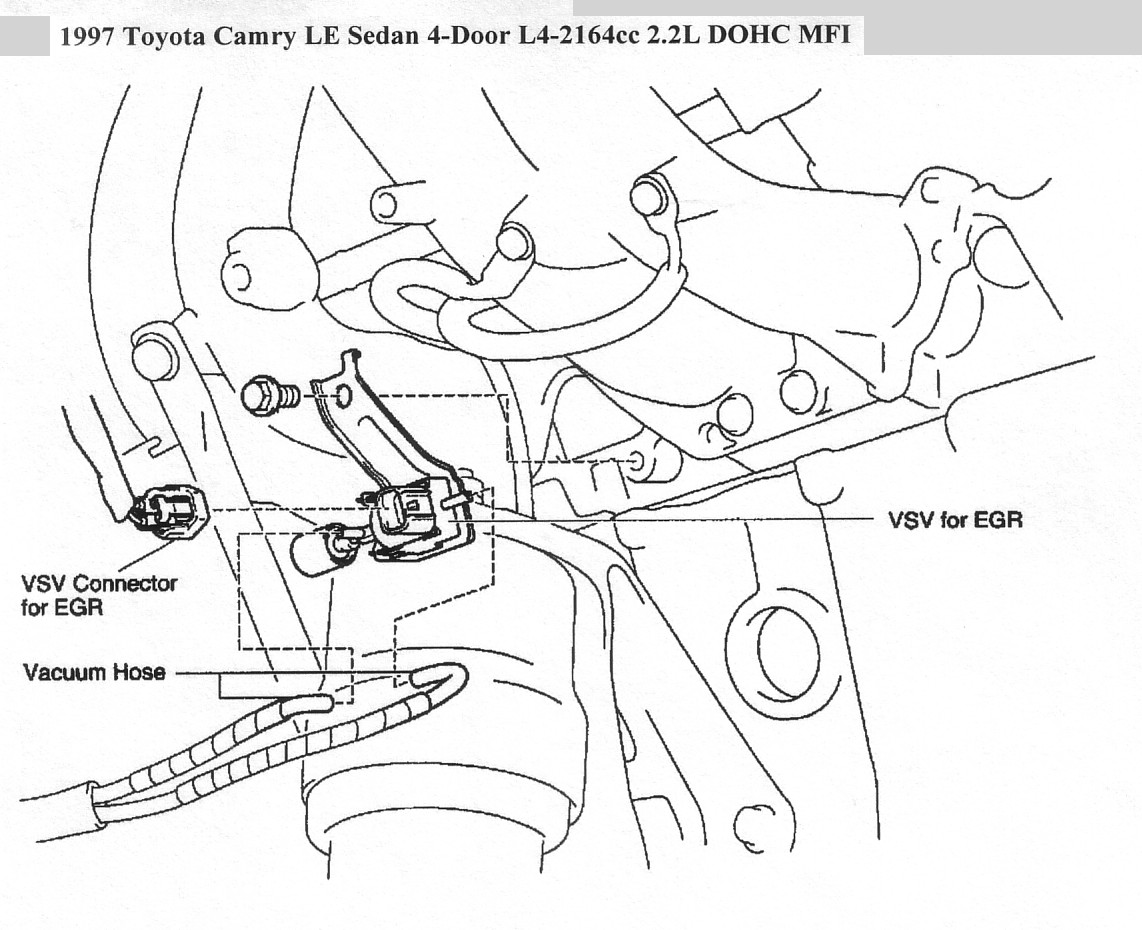 Where Is Egr Vsv Located On 4cyl Toyota Camry
