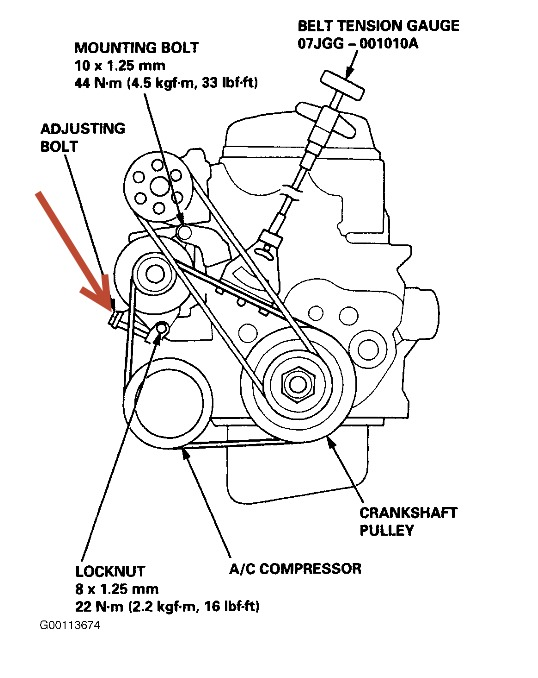 2002 Honda Passport Serpentine Belt Diagram
