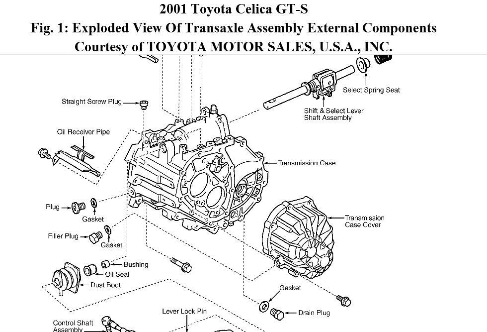 2000 Toyota Celica Transmission Wire Diagram : 44 Wiring
