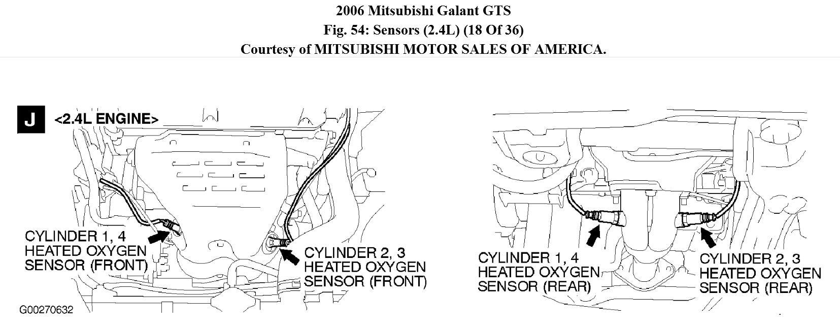 Supercars Gallery: Mitsubishi Eclipse O2 Sensor Location