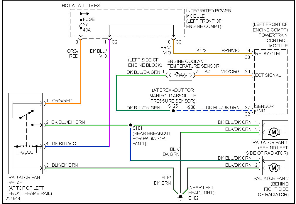 radiator fan relay wiring diagram pioneer bluetooth car stereo 2006 chrysler town and country cooling fans aren t working thumb