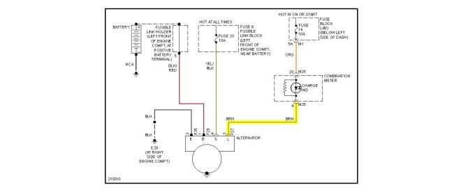 2004 nissan murano alternator wiring  wiring diagram wave