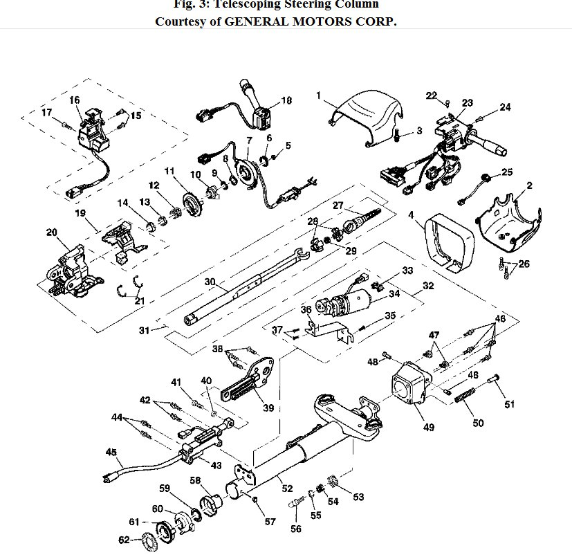 Telescoping Steering Column Won't Work: 2002 Corvette
