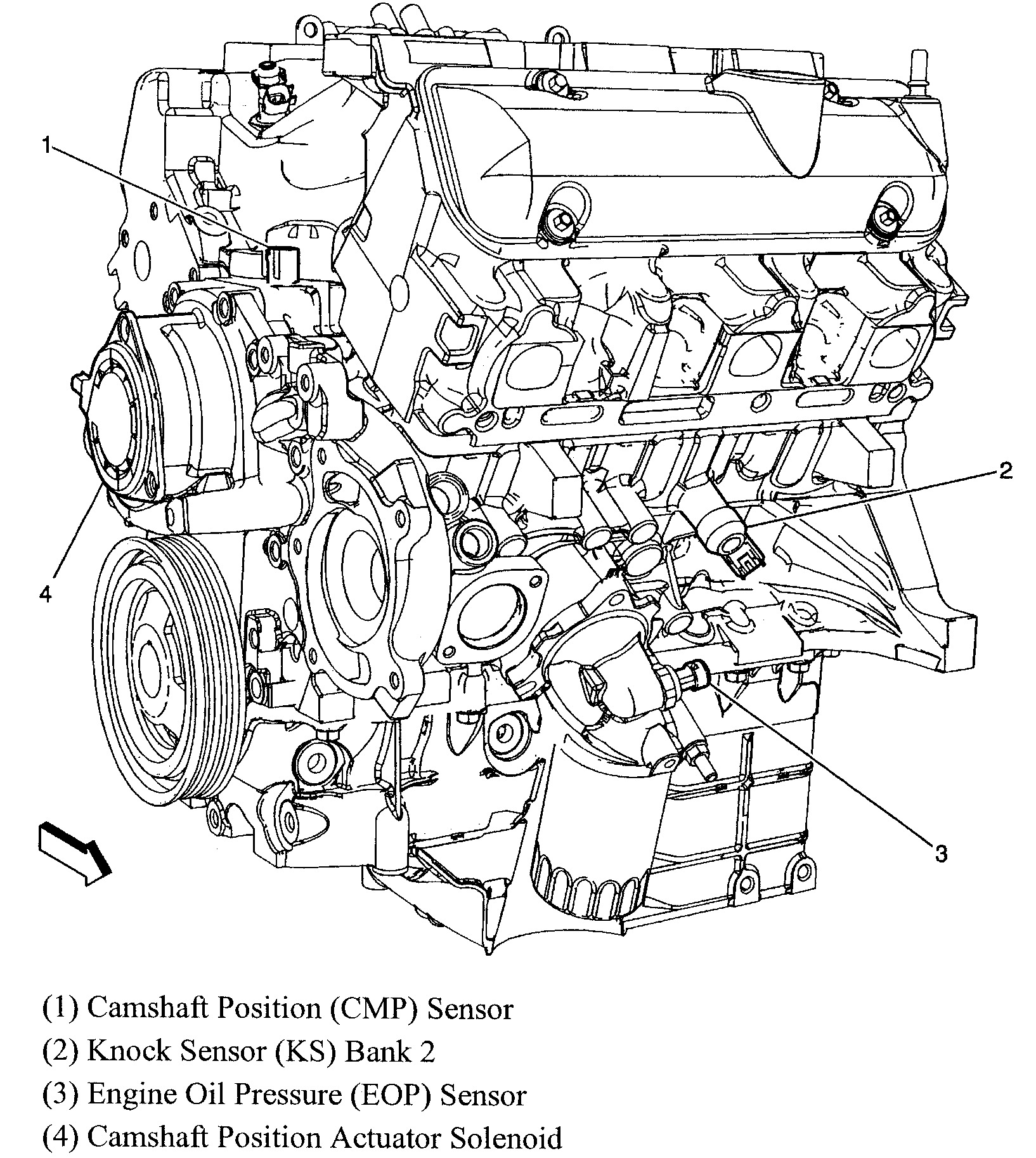 Chevy 3 1 Engine Diagram Camshaft Position Sensor