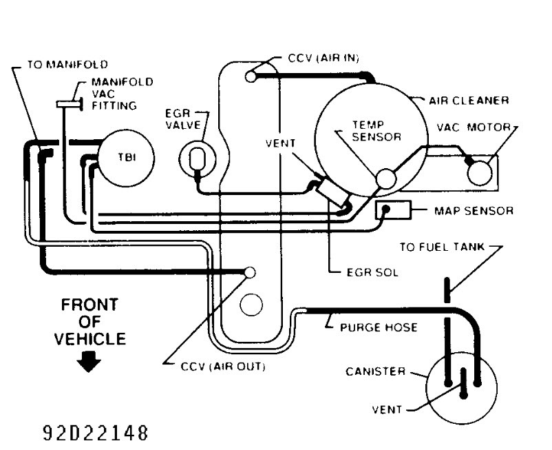 Wiring Diagram Database: 2000 Chevy Blazer Evap System Diagram