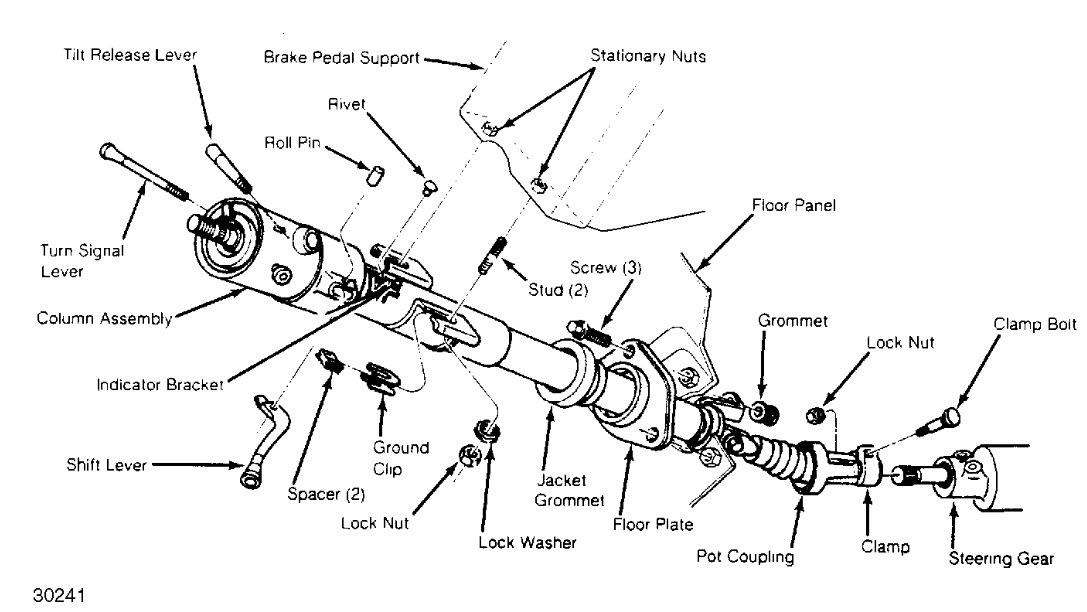 1993 s10 steering column wiring diagram