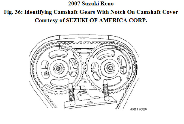2007 Suzuki Reno I Need the Timing Marks.