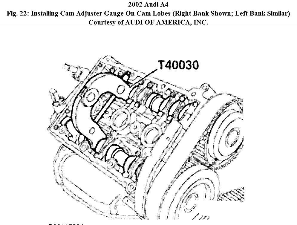 Setting Camshaft Timing on 2002 Audi A4: Camshaft Moved
