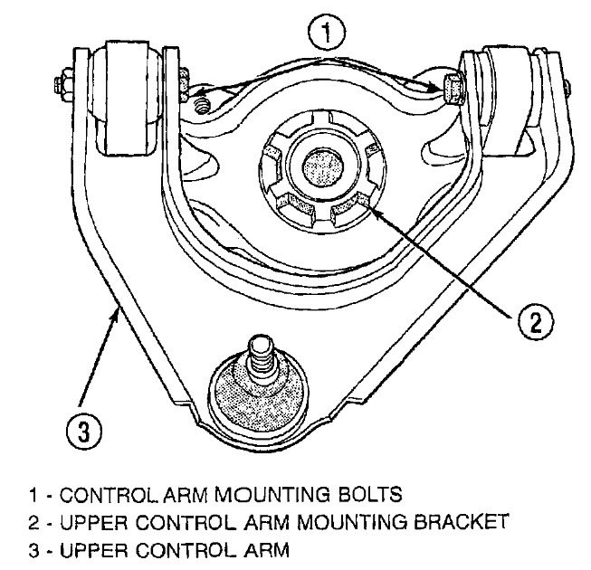 Service manual [2002 Dodge Stratus Control Arm Removal
