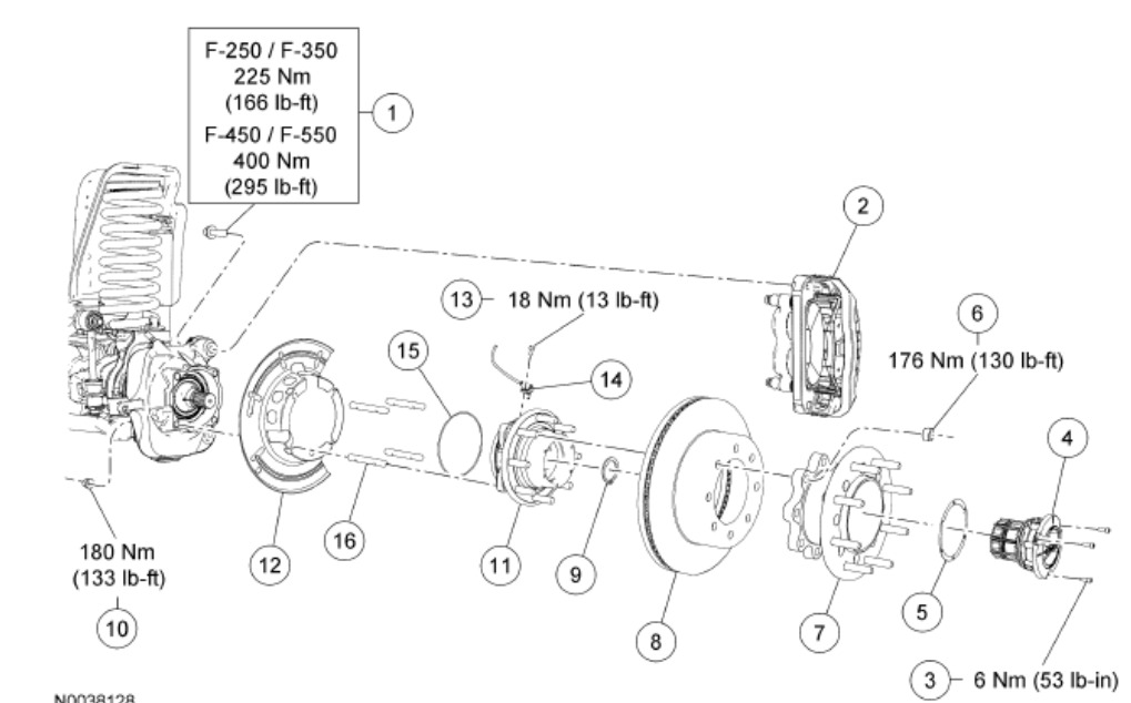 1999 Ford F250 Front Hub Diagram. Ford. Auto Parts Catalog