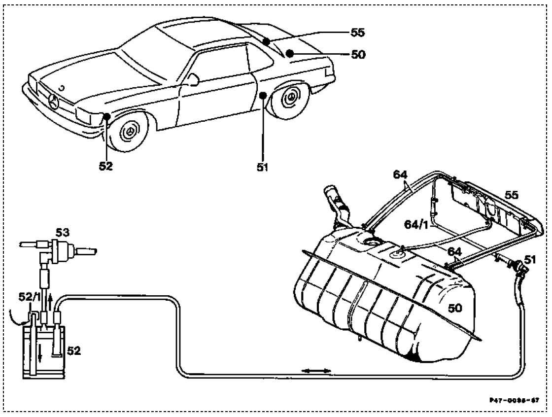 mercedes 450sl engine diagram
