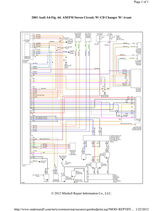 Audi All Road Fuse Diagram Does The Hot Lead On A 2001 Audi A4 Symphony Radio Have A