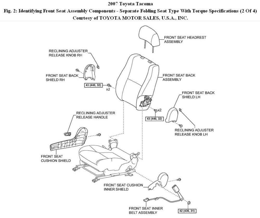 medium resolution of tacoma seat cover replacement i have to replace the bottom front 2005 toyota tacoma wiring diagram 2007 toyota tacoma seat diagram