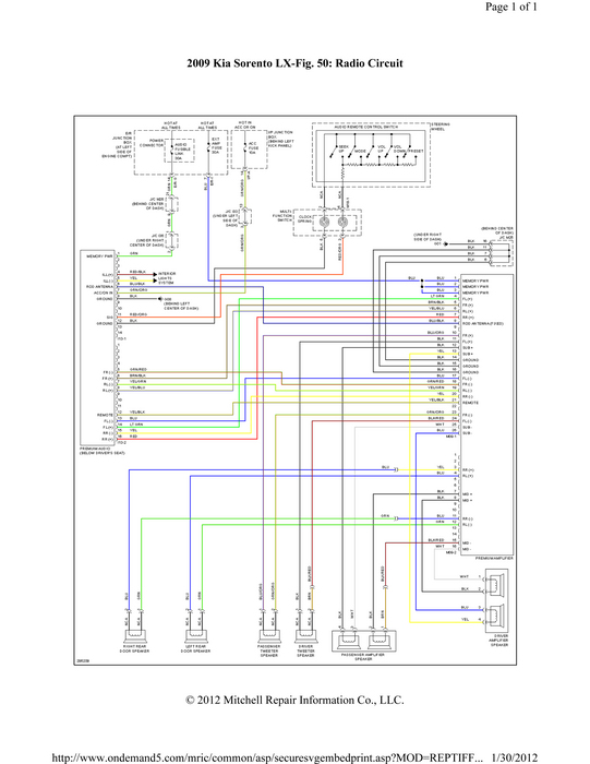 Stereo Wiring Diagram For A Kia Optima?